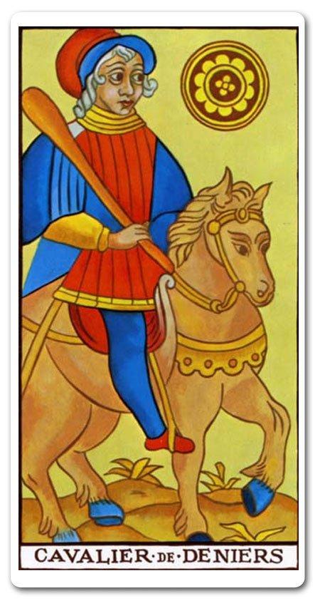 Cavaleiro de Ouros - carta de tarô: amor, finanças, futuro, sim ou não